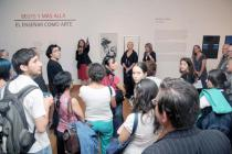 Guided tour at the opening of �Beuys and Beyond� at the (MAVI)