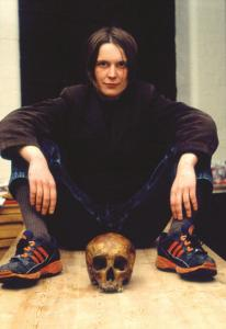 Sarah Lucas, Self-Portrait with Skull, 1996. © the artist, courtesy Sadie Coles HQ, London