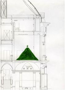 Roman Ondák, The Hill Seen from Afar, 2011, preliminary drawing for installation. Courtesy of the artist. © Roman Ondák