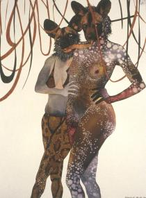 Wangechi Mutu, Intertwined, 2003. � Wangechi Mutu and Susanne Vielmetter Los Angeles Projects