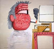 Philip Guston, Painter's Head, 1975. Private collection. � The Estate of Philip Guston