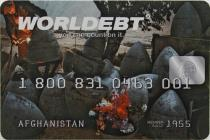 John Knight, Detail view of Worldebt,  1994. Courtesy of the Artist
