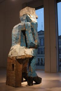 Georg Baselitz, Volk Ding Zero - Folk Thing Zero, 2009. Courtesy Contemporary Fine Arts, Berlin. Photo: Photo: Luiz Marini