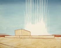 Wilhelm Sasnal, Power plant in iran, 2010. Copyright the Artist, courtesy Sadie Coles HQ, London