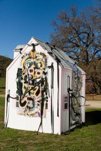 KAYA (Kerstin Brätsch & Debo Eilers), KAYA's House, 2015. Exhibition: Paramount Ranch, Los Angeles, 2015, with Freedman Fitzpatrick
