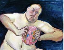 Maria Lassnig, The World Destroyer (Der Weltzertrümmerer), 2003, Courtesy Friedrich Petzel Gallery
