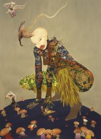 Wangechi Mutu, Riding Death in My Sleep, 2002. Collection of Peter Norton, New York. � Wangechi Mutu.