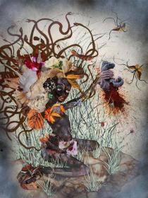 Wangechi Mutu, The Bride who married a Camel's head, 2009. Photo: Mathias Schormann. � Wangechi Mutu and Susanne Vielmetter Los Angeles Projects