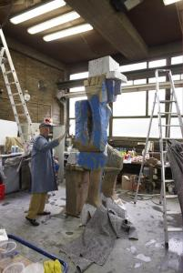 Georg Baselitz working on �Volk Ding Zero - Folk Thing Zero�. � Martin Mueller Fotografie