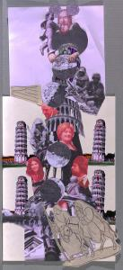 Agathe Snow, Tower of Pisa, 2010. Collage for the catalogue 'All Access World'. Photo: Kris McKay. © Agathe Snow