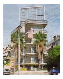 Nikolas Ventourakis, Billboard 1, from �Leaving Utopia�.  Courtesy the artist