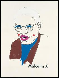Glenn Ligon, Malcolm X (Version 1) #1, 2000. Collection of Michael and Lise Evans. Courtesy of the artist and Regen Projects, Los Angeles. � Glenn Ligon
