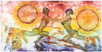 Francesco Clemente, A History of the Heart in Three Rainbows (III), 2009. Watercolor on paper. Courtesy Francesco Clemente