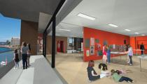 A hub of art and creative learning: new spaces for workshops. Rendering © Museum of Contemporary Art Australia