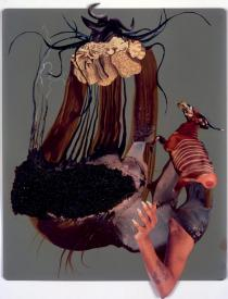 Wangechi Mutu, Drowning Nymph III, 2007. Ole Faarup Collection, Copenhagen. � Wangechi Mutu and Victoria Miro Gallery