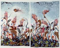 Wangechi Mutu, Funkalicious fruit field, 2007. Collection of Glenn Scott Wright, London. Courtesy of Victoria Miro Gallery, London. � Wangechi Mutu.