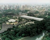 Aerial view of the pavilion of the Sao Paulo Biennial. Courtesy Sao Paulo Biennial