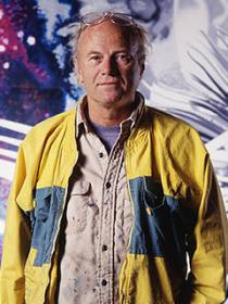 James Rosenquist in his Aripeka, Florida studio, 1988. Photo by Russ Blaise