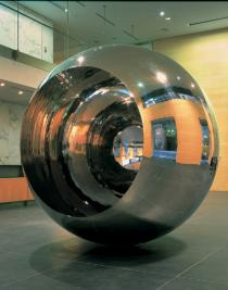 Anish Kapoor, Turning the World Upside Down III, 1996, installation view Deutsche Bank London, Deutsche Bank Collection