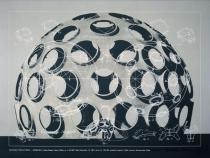 "Richard Buckminster Fuller, GEODESIC STRUCTURES-MONO HEX, from the series ""Inventions:Twelve around one"", 1981, Deutsche Bank Collection"