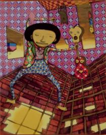 Os Gêmeos, Amanheceu De Cabeca Prabaxo (Upside Down Sunrise), 2012. Private Collection. Courtesy of the artists