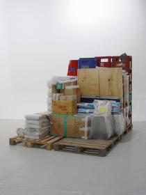 Haegue Yang, Storage Piece, 2004, Haubrok Collection, Berlin, installation view, Alterity Display, Lawrence O'Hana Gallery, London, 2004. © Haegue Yang, photo: Lawrence O'Hana Gallery.