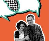 Dayanita Singh & Gerhard Steidl. Photo: private. Illustration: Melanie Achilles