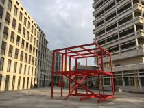2FREE SPACE by Dirk Bell in front of Deutsche Bank's new office building. Otto-Suhr-Allee 16, Berlin.