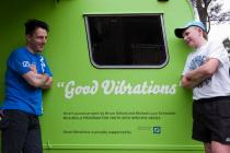 """Good Vibrations"" was out on the road again visiting young people from Deutsche Community Care charity Open Family Australia. Photo: Amanda James"