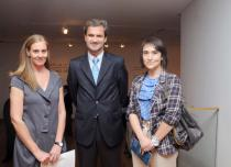 Maria Jos� Bunster, Director of the Mavi, Jos� Miguel Alcalde, Chief Country Officer of Deutschen Bank Chile, and Gabriela Gutierrez, Head of Communication, Deutsche Bank Chile