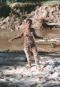 Ana Mendieta, Blood and Feathers #2, 1974.Collection Raquelin Mendieta Family Trust. © The Estate of Ana Mendieta Collection. Courtesy Galerie Lelong, New York and Paris and Alison Jacques Gallery, London