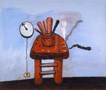 Philip Guston, The Studio Bench, 1978. Private collection � The Estate of Philip Guston