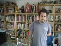 Dr. Lakra in his studio, Oaxaca, Mexico, January 2009; photo Daniel Hernandez