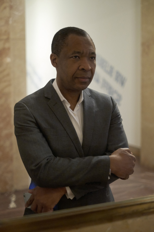 Okwui Enwezor (2015). Photo: Heidi Specker for ArtMag