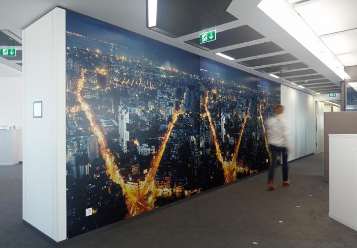 Frank Bank Wallpapers Wallpaper by Dayanita Singh in the Deutsche Bank Towers Frankfurt